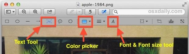 Aggiungi testo alle foto, cambia il colore del carattere, regola la dimensione del carattere, ecc