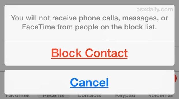 Blocca un contatto su iPhone