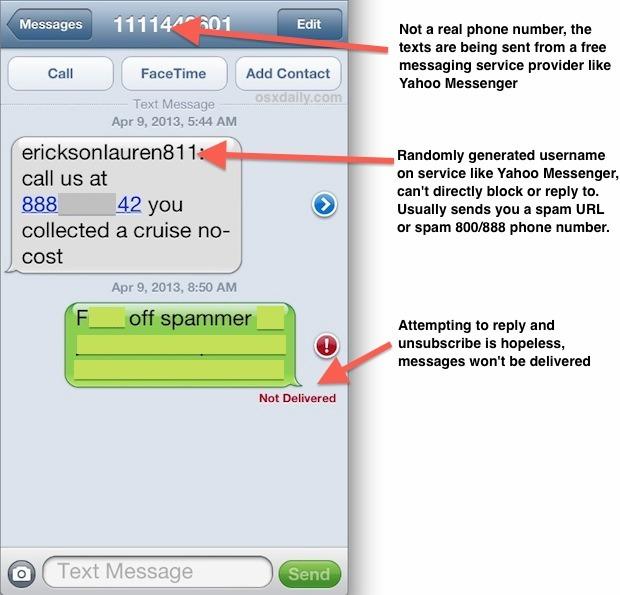Anatomia dello spam dei messaggi di testo