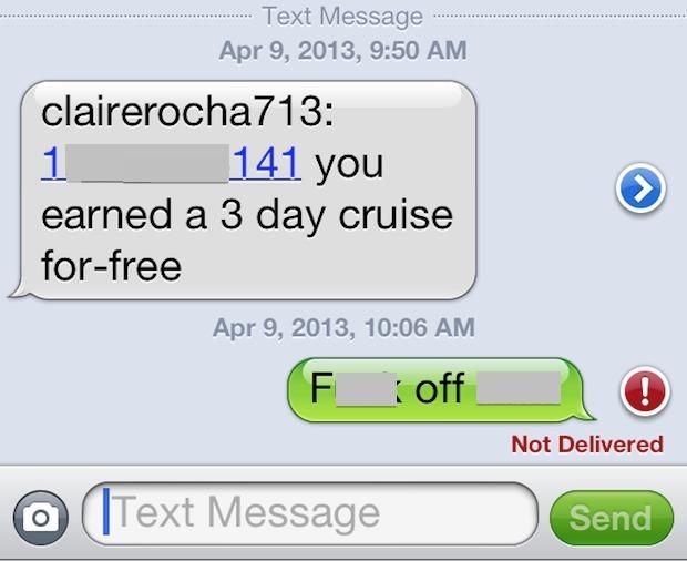 Messaggi di testo spam su iPhone