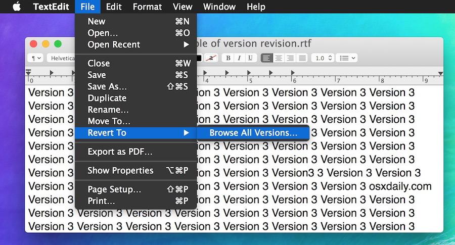 Ripristina un file salvato precedente sfogliando le versioni precedenti
