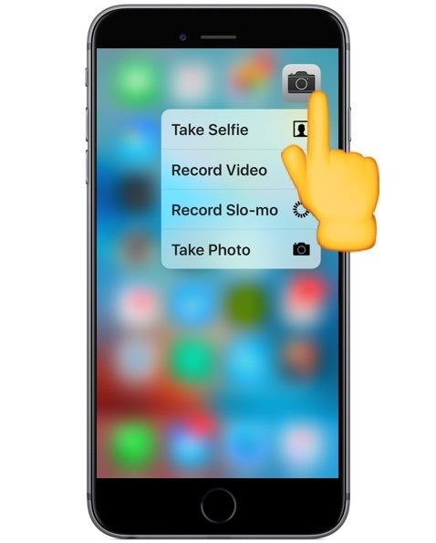 3D Touch su fotocamera per iPhone