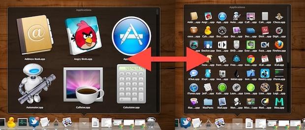 Cambia la dimensione dell'icona di Stacks