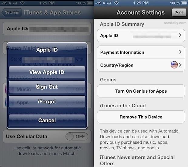Cambia l'associazione Paese ID Apple per iTunes e App Store