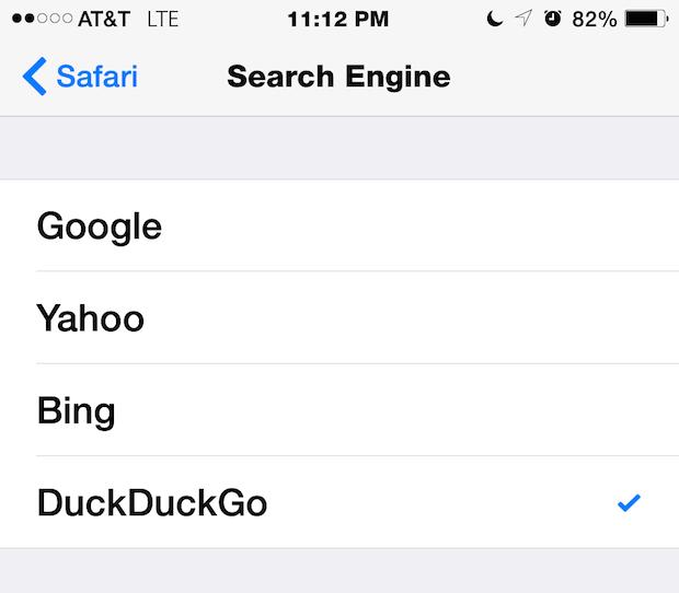 Dove cambiare il modo in cui Safari esegue ricerche sul Web e con quali motori di ricerca, inclusi Google, Yahoo, Bing e DuckDuckGo