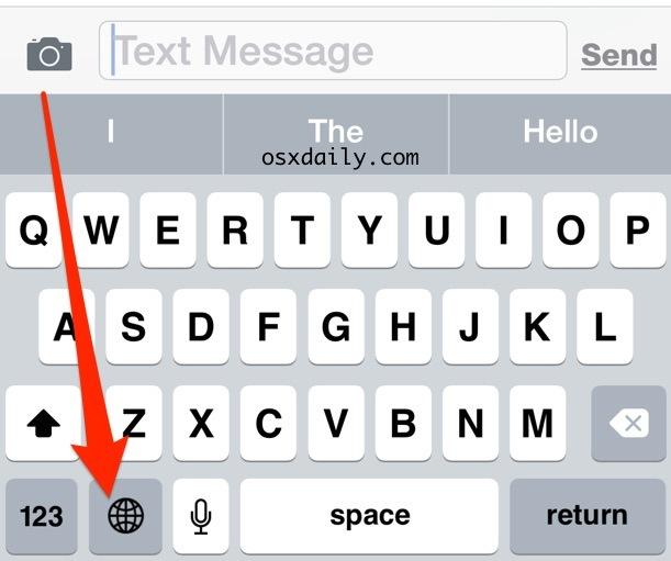 Cambio della lingua della tastiera su iPhone