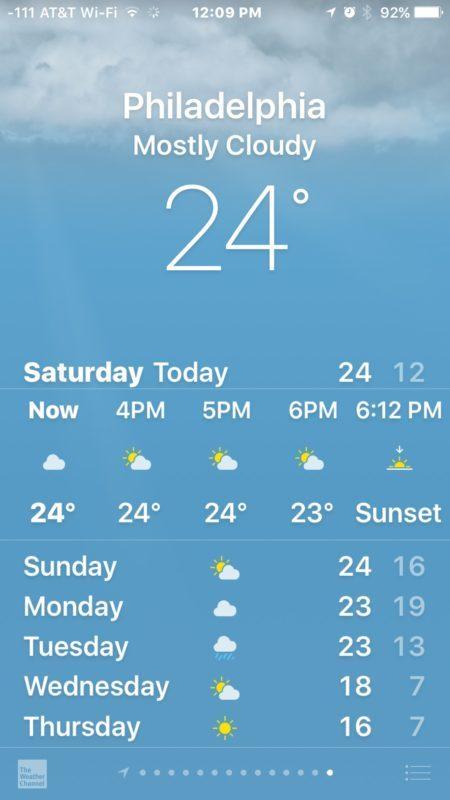 Modifica del formato dei gradi meteo su iPhone