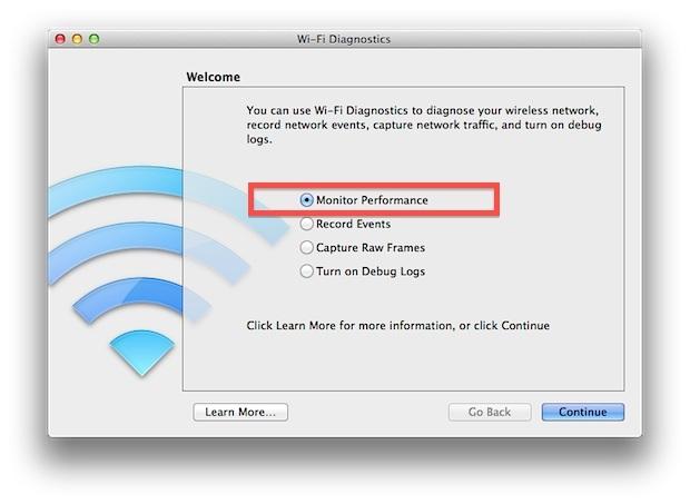 Monitorare le prestazioni WiFi