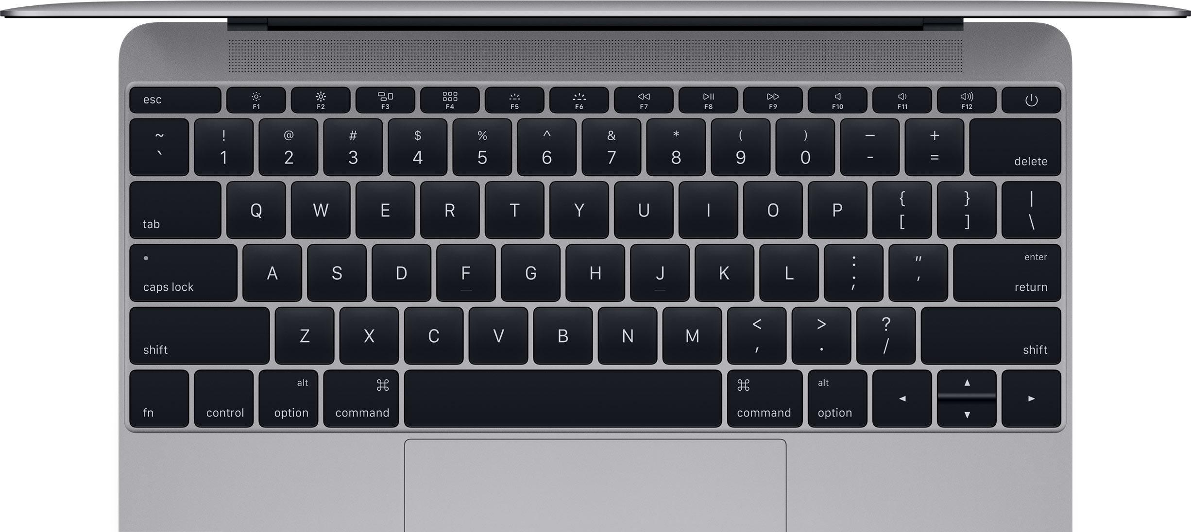 Una tastiera MacBook pulita