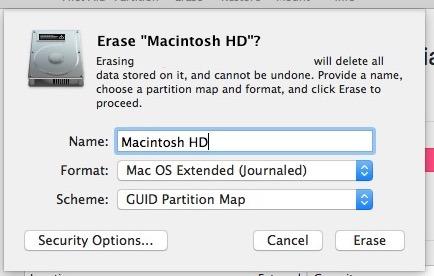 Formattare l'unità Mac su cui si desidera installare macOS Sierra