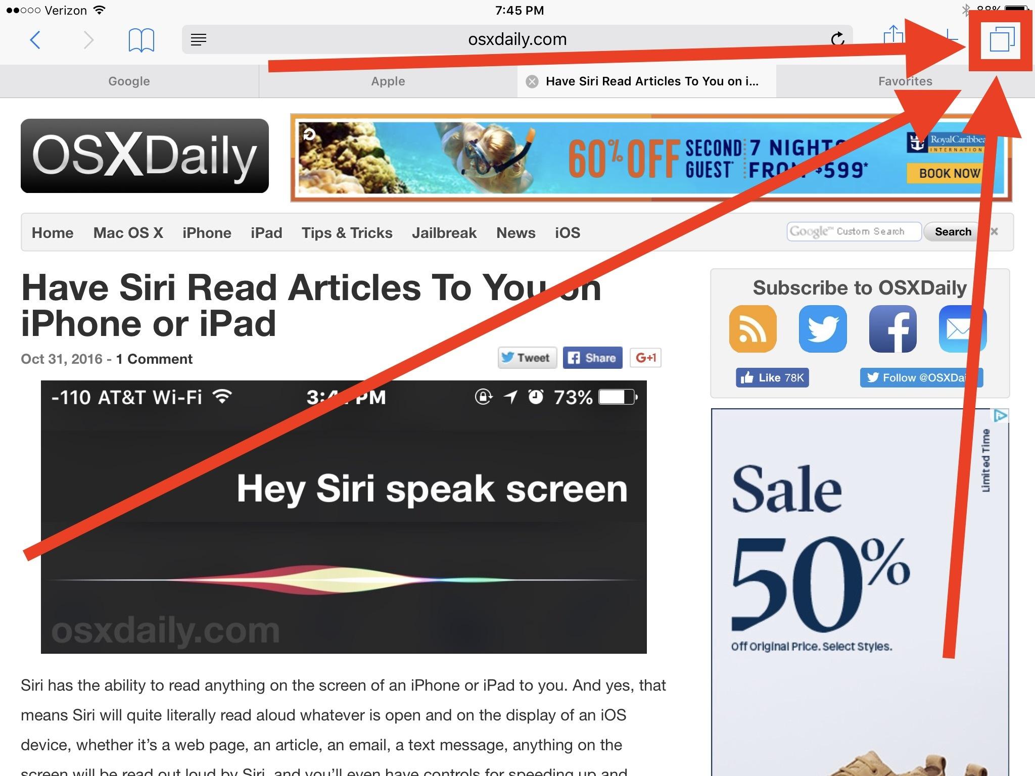Come chiudere tutte le schede del browser in Safari per iOS