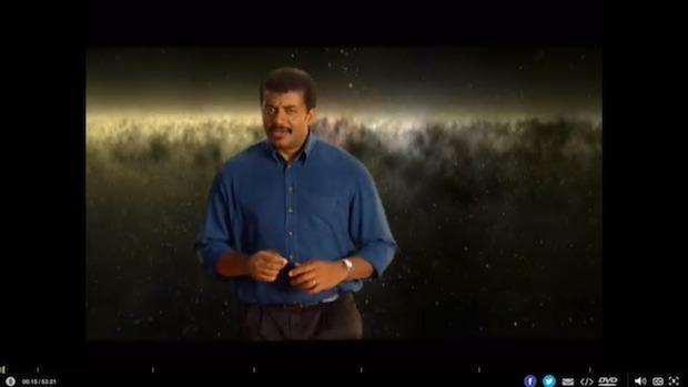 Riproduzione video su un televisore da un Mac, che mostra barre nere attorno al video