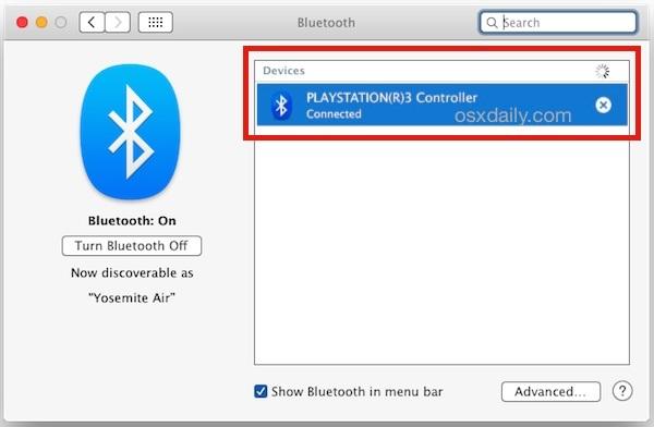 Collega un controller PlayStation 3 a Mac OS X