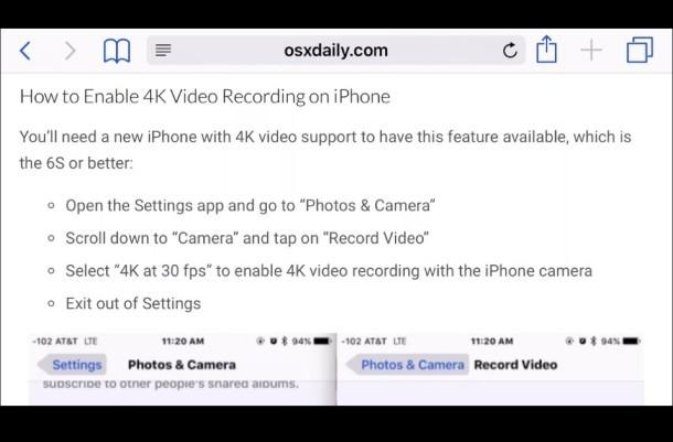 Safari su iPhone in esecuzione su uno schermo TV HDMI tramite connessione HDMI