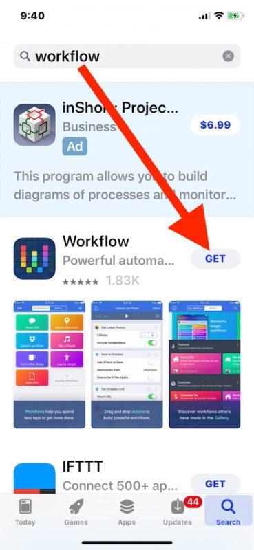Scarica WOrkflow per iPhone gratuitamente