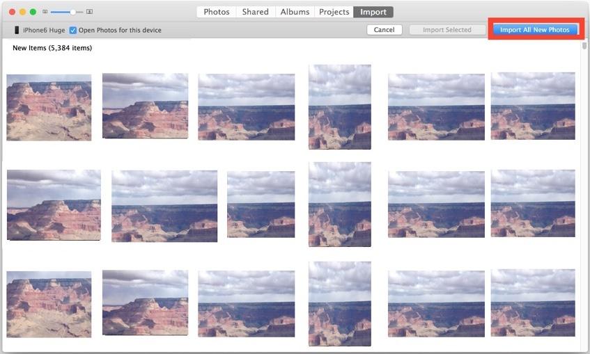 Importa immagini da iPhone all'app Foto in Mac OS X e copiali sul computer