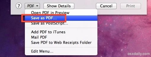 Crea un PDF sicuro in Mac OS X