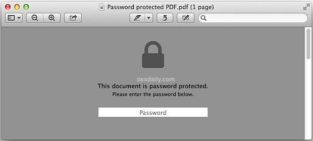 Apri il PDF protetto da password