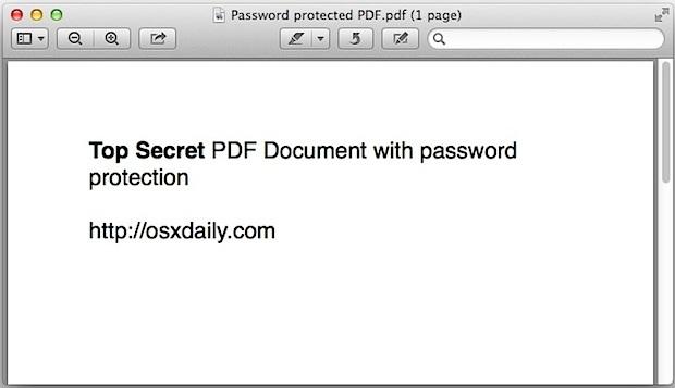 Aprire un file PDF protetto da password