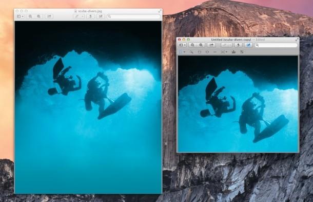 Ritaglio di immagini in Anteprima di Mac OS X.