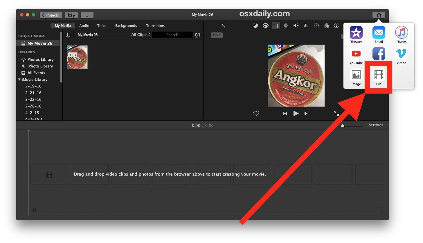 Come ritagliare un video su Mac con iMovie