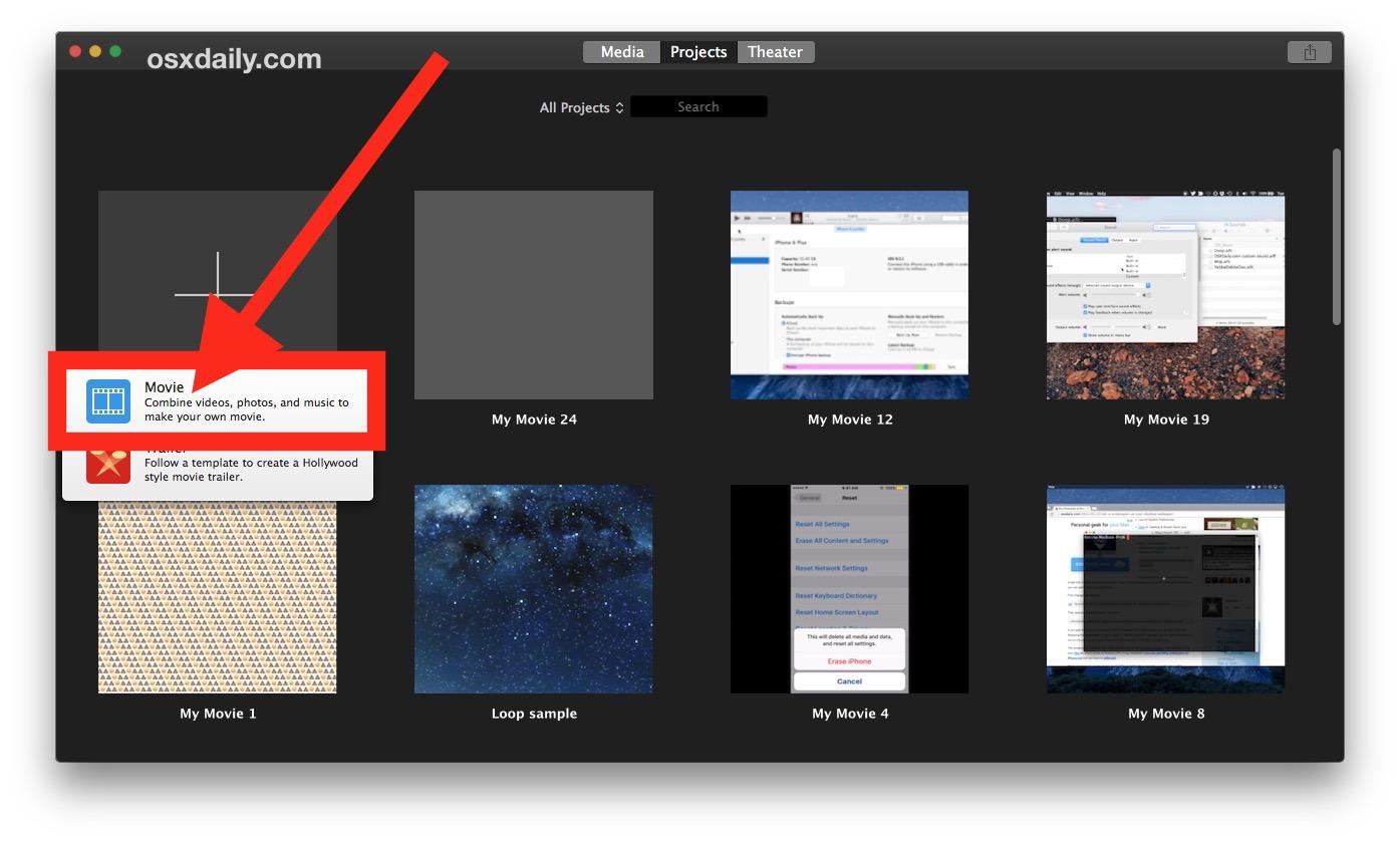 Come ritagliare un video su Mac con iMovie 2