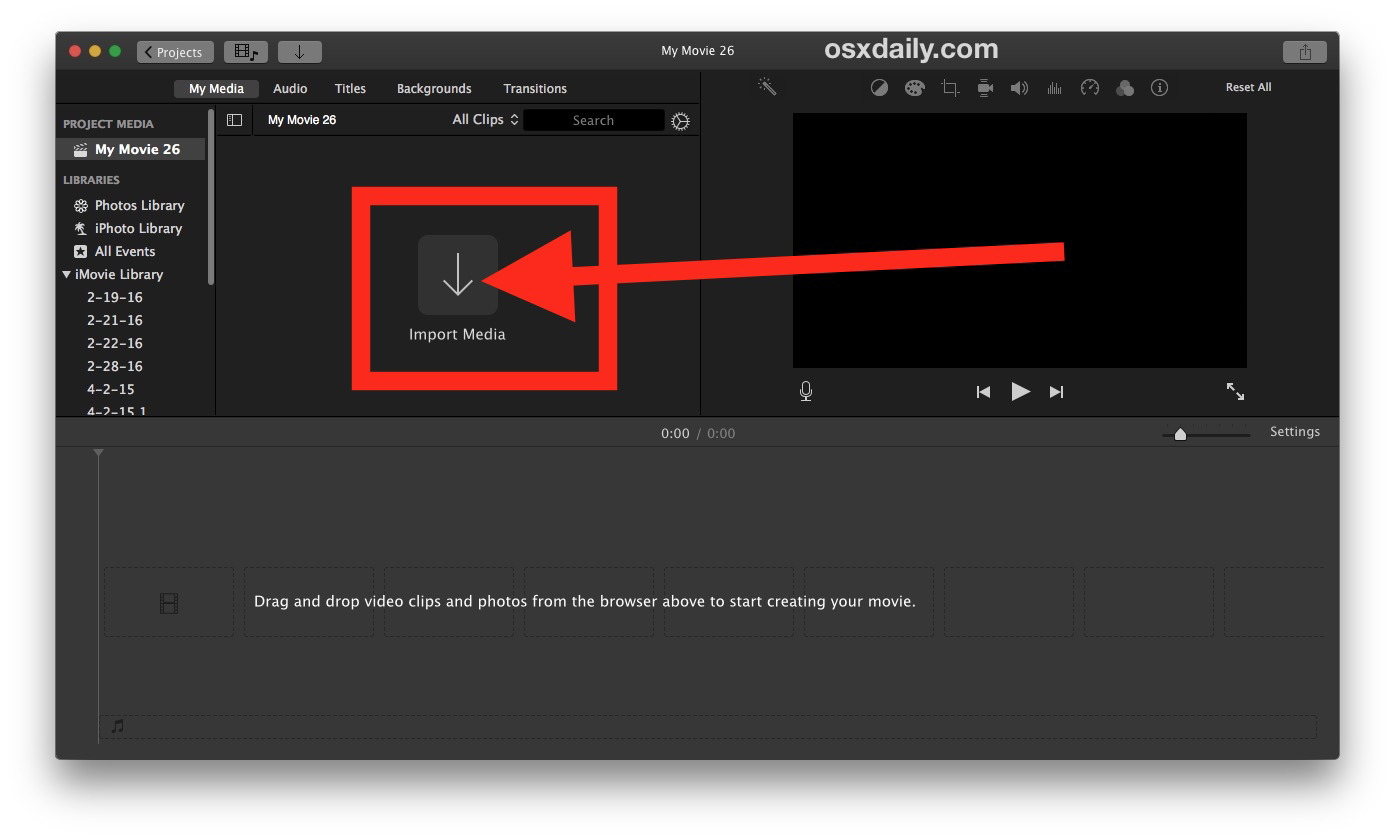 Come ritagliare un video su Mac con iMovie 3