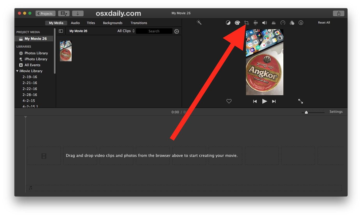 Come ritagliare un video su Mac con iMovie 4