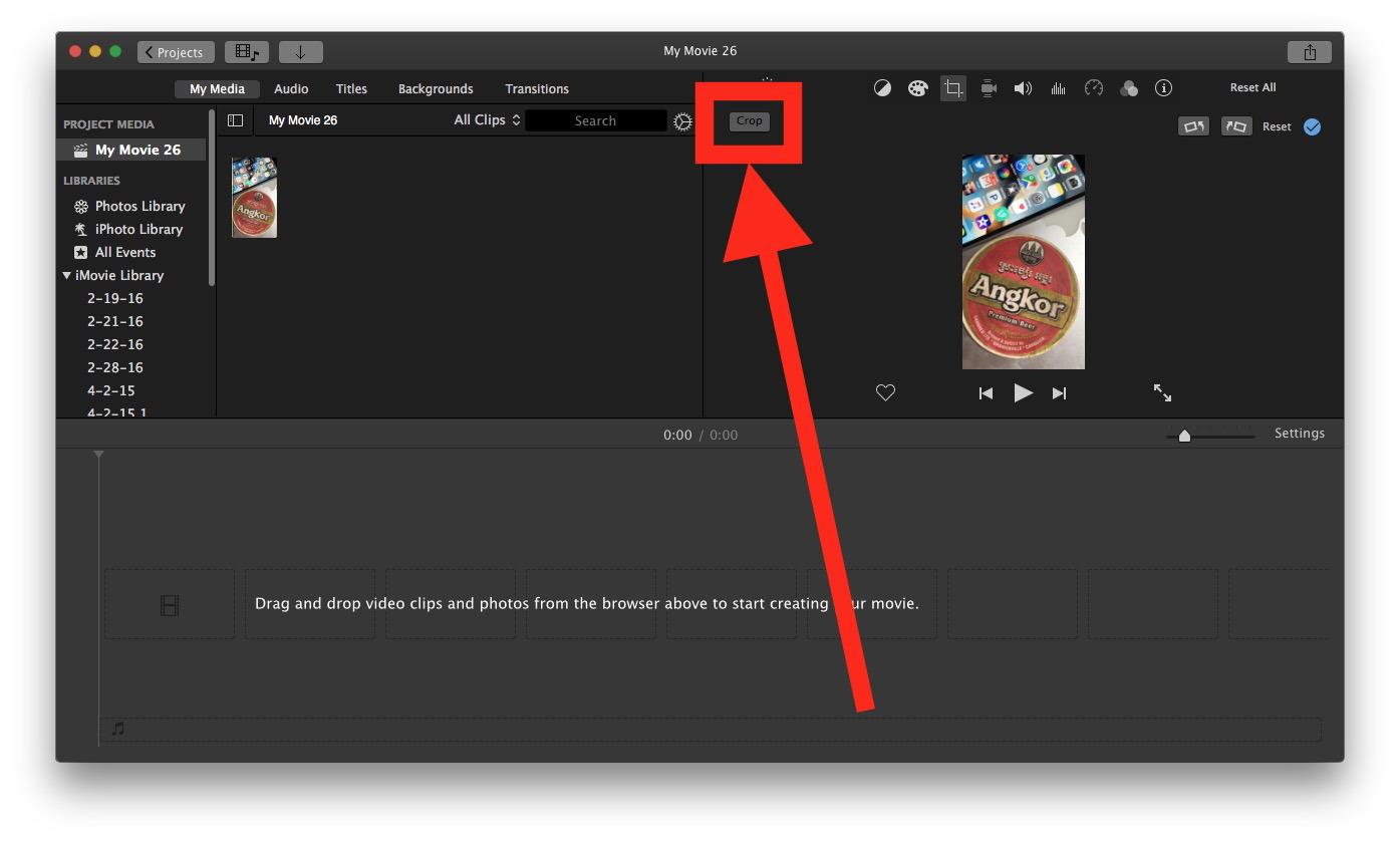 Come ritagliare un video su Mac con iMovie 5