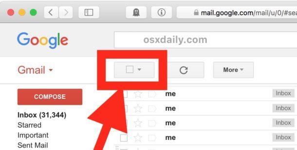 Come eliminare tutte le email di Gmail