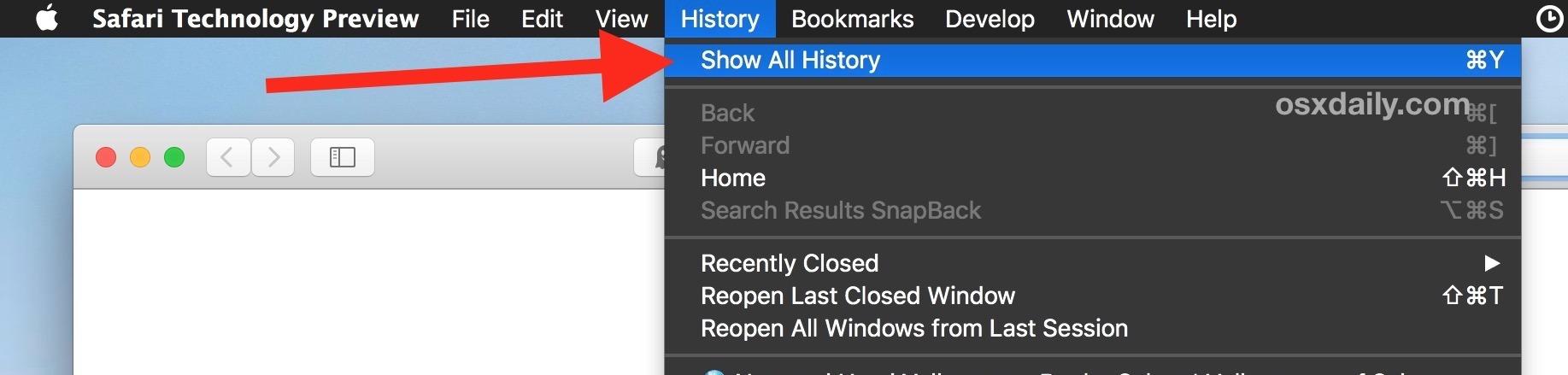Come mostrare tutta la cronologia di Safari su Mac