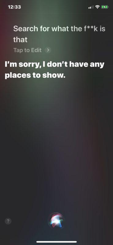 Siri bad language disabilitato