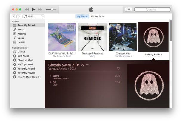 Interfaccia utente di iTunes semplificata