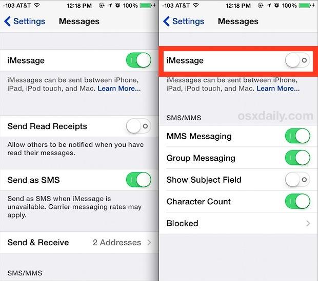 Come disattivare iMessage su iPhone