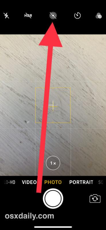 Disattiva le foto in diretta su iPhone