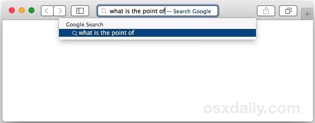 I suggerimenti per la ricerca di Safari sono stati disabilitati su Mac