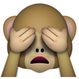 Non voglio vederlo, scimmia che nasconde gli occhi