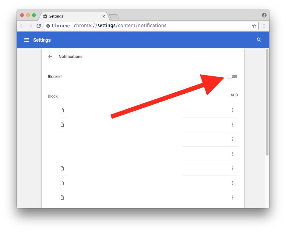 Con le richieste di notifica disabilitate puoi utilizzare Chrome senza essere infastidito per mostrare le notifiche del sito web