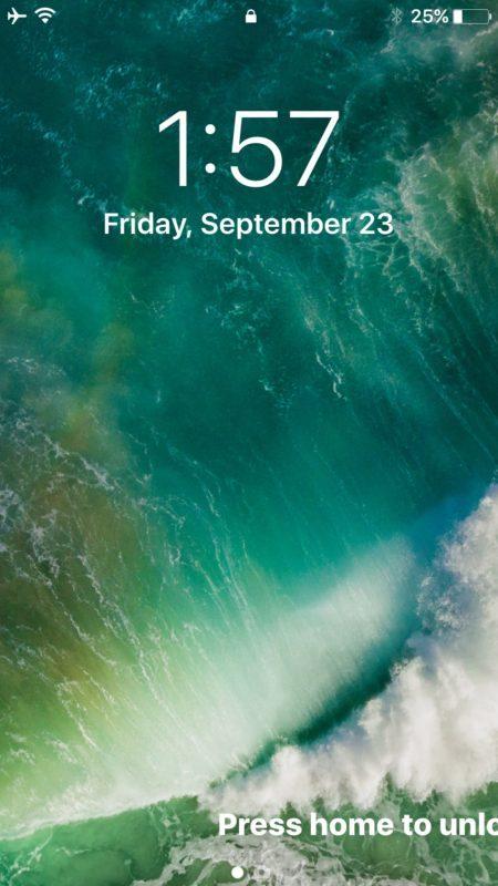 Inizia widget e oggi schermata dalla schermata di blocco di iOS 10