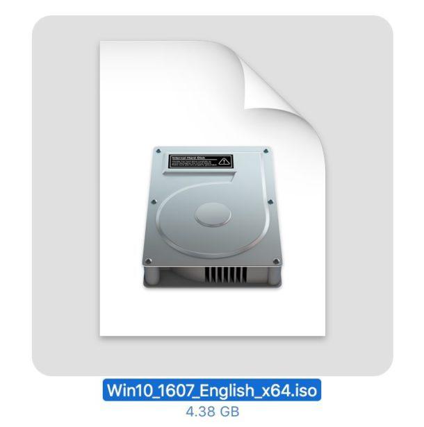 Il file ISO di Windows 10 scaricato