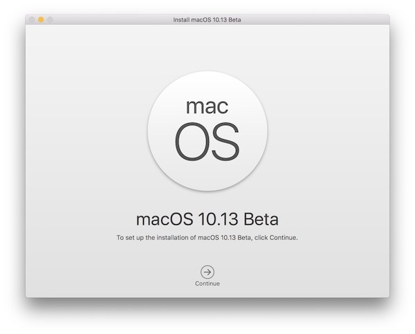 Installa macOS High Sierra beta