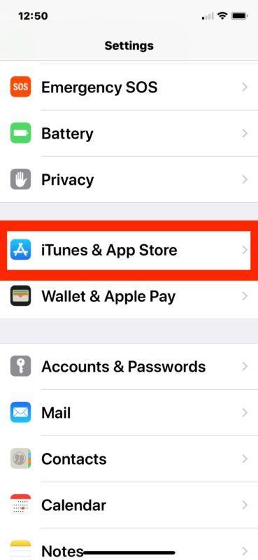 Abilita gli aggiornamenti automatici degli app store iOS
