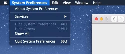 Barra dei menu Modalità scura abbassa l'aspetto in OS X Mac x1