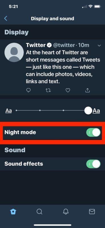 Come abilitare Dark Mode su Twitter per iOS