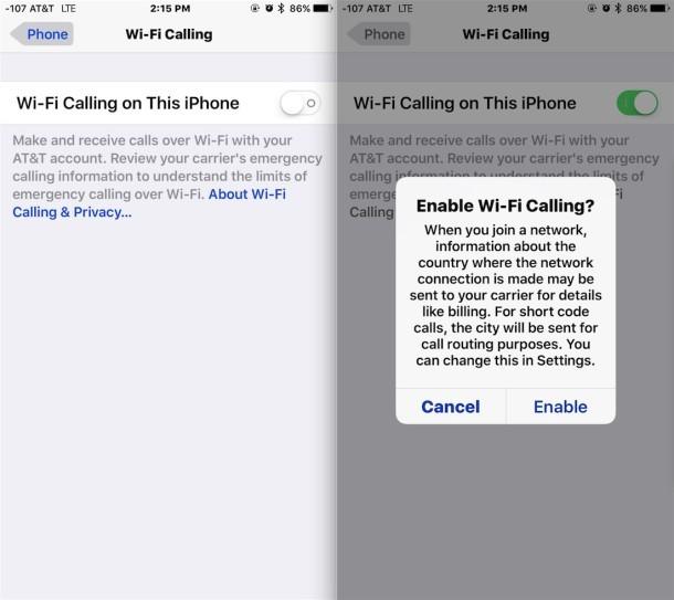 Come abilitare le chiamate Wi-Fi su iPhone