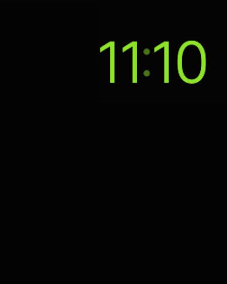 Apple Watch in modalità Riserva di carica