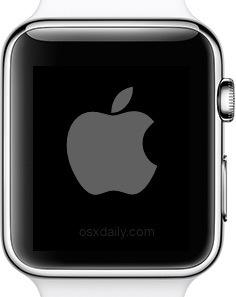Riavvia l'Apple Watch