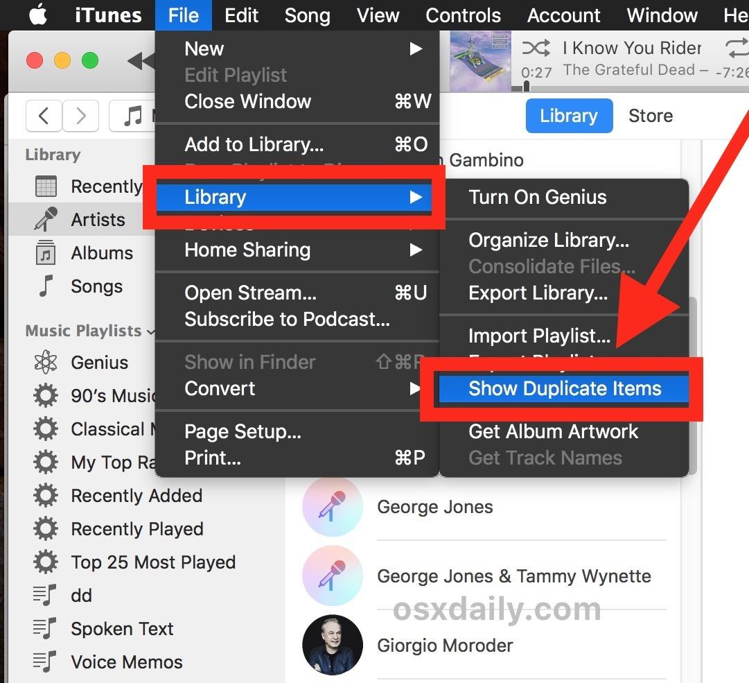 Come trovare brani duplicati in iTunes 12