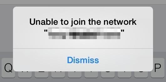 Impossibile accedere alla rete in iOS