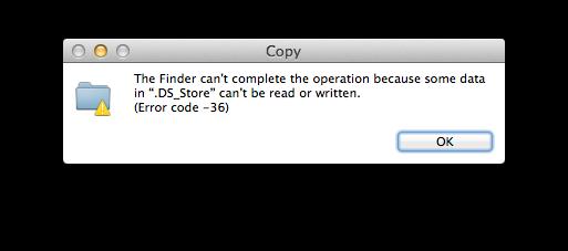 Codice errore Mac 36